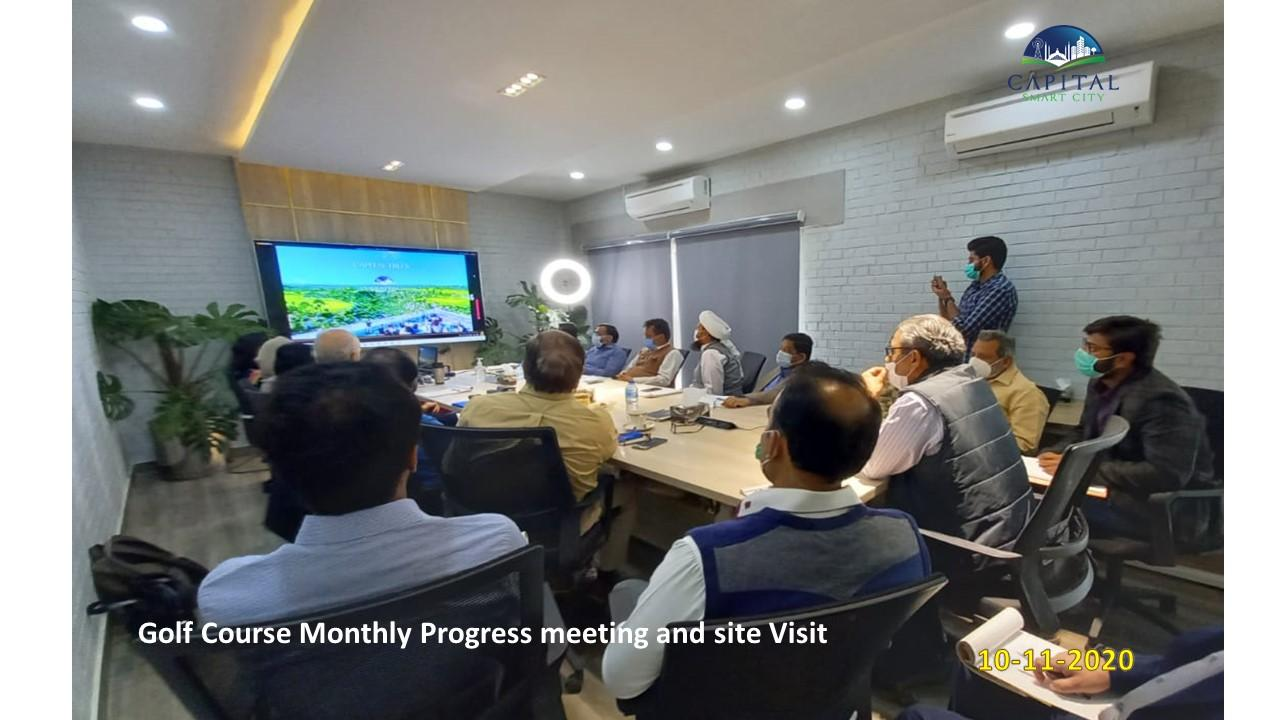 Golf Course Progress Meeting with Mr. Peter