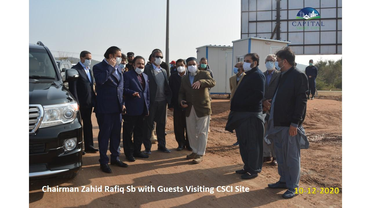 Chairman Zahid Rafiq sb with guests visiting CSCI Site
