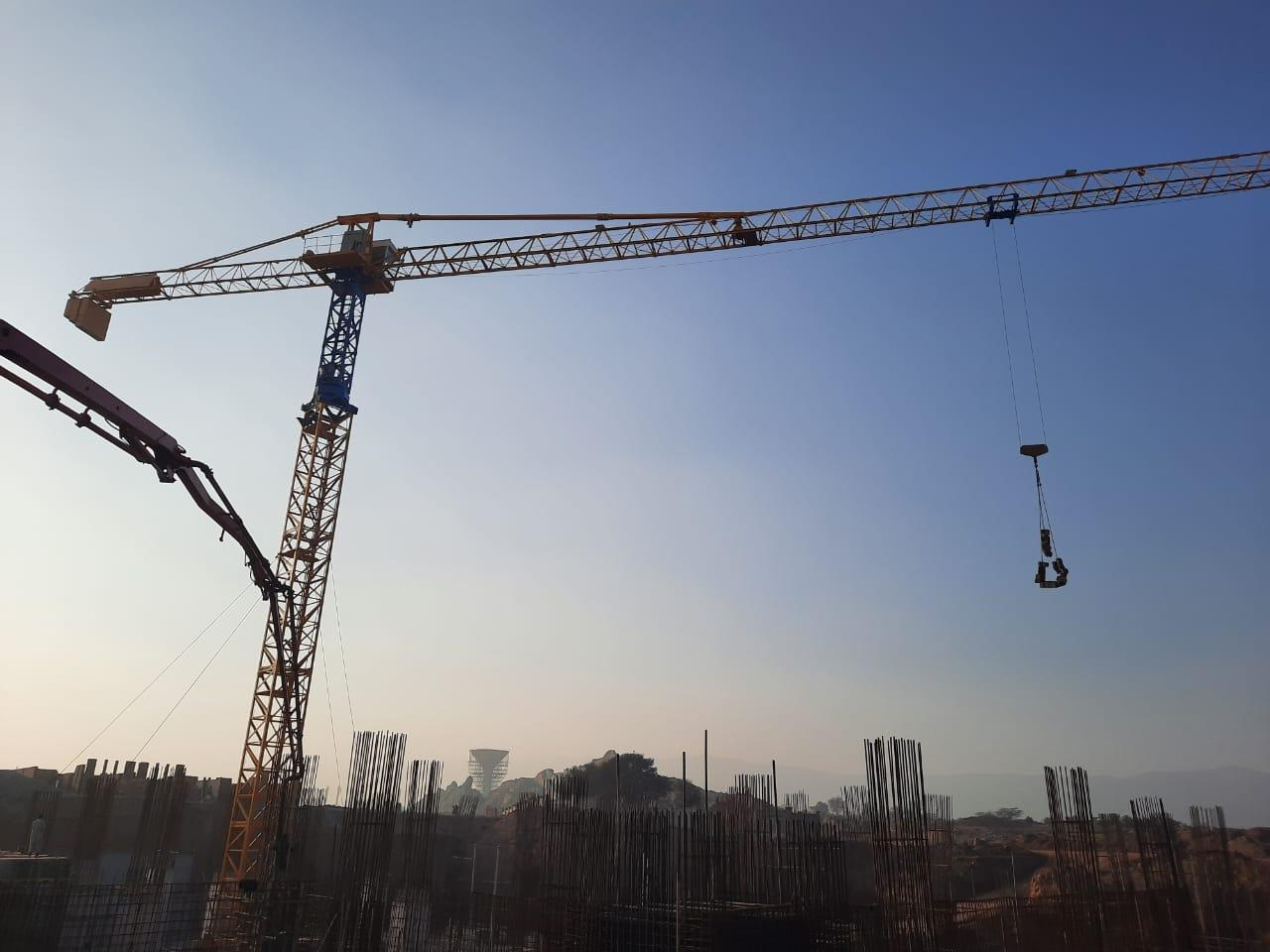 Tower crane installation at Harmony Hight completed.