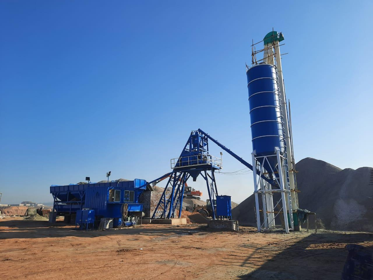 Installation of 3rd Concrete Batching Plant completed.  Alham du Lillah.