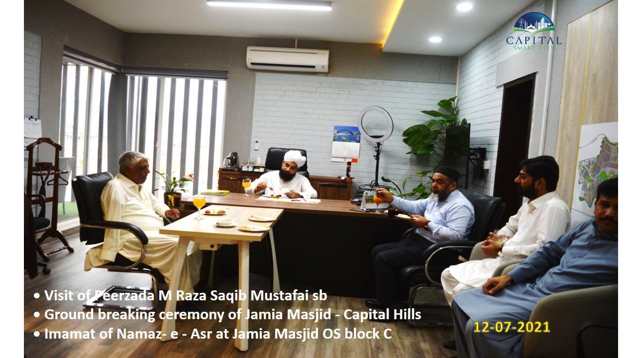 Visit of Peerzada M Raza Saqib Mustafai sb