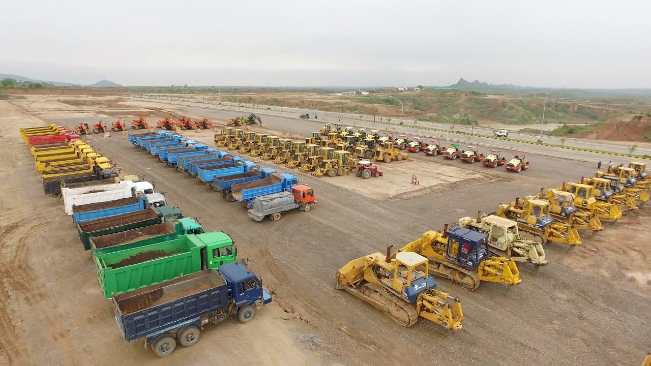 Heavy Equipment at Site