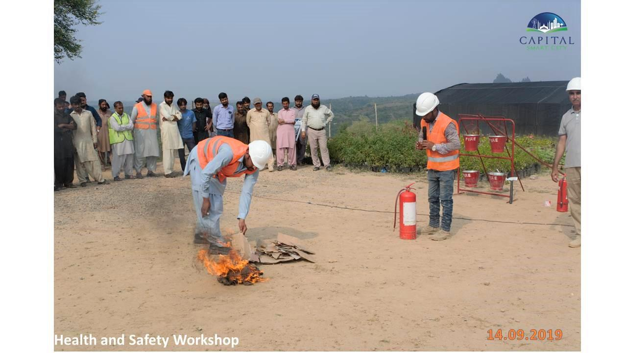 Lecture / Demo on Safety at Project Site