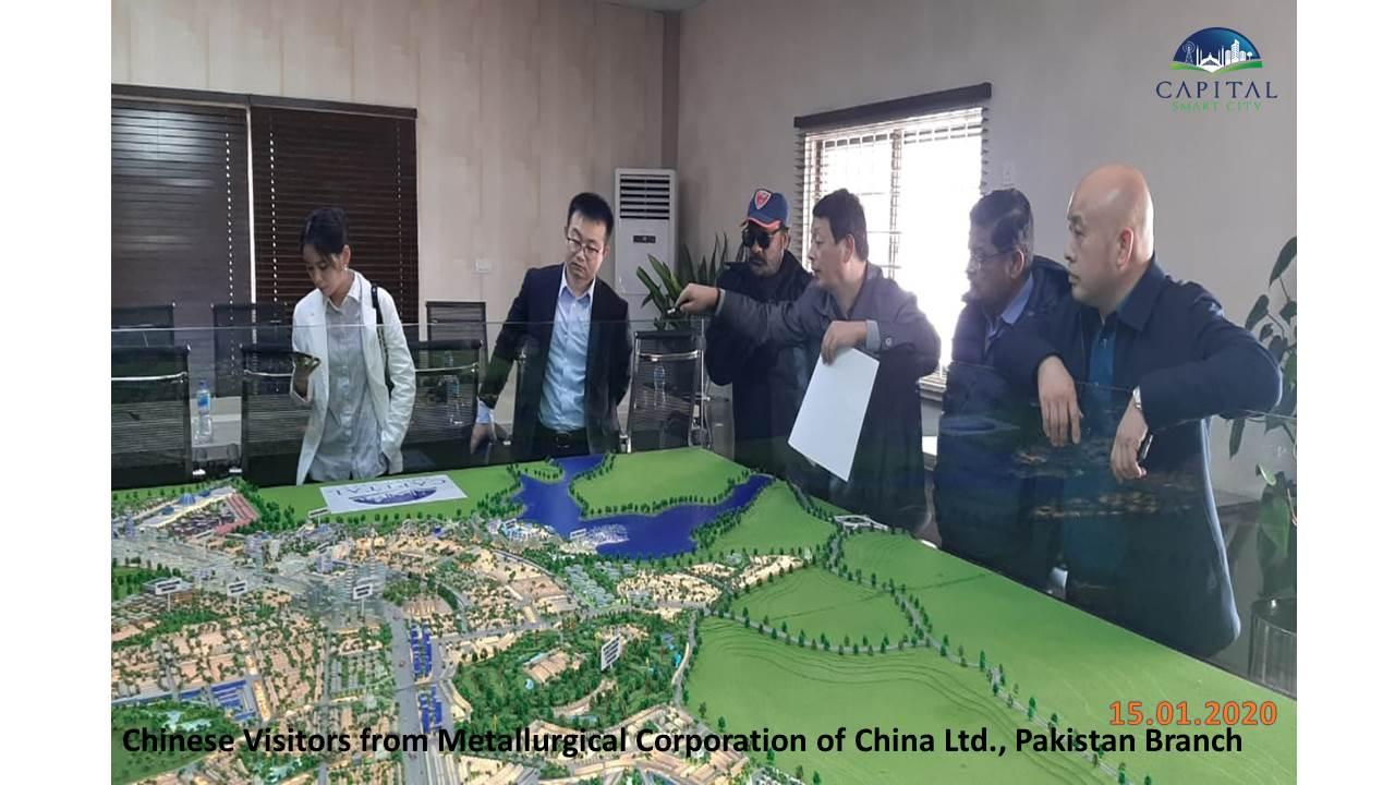 CSCI progress pictures. Visit of Mr. Ibrahim, Mr. York Zhang, Mr. Yuan and Ms Ye from Metallurgical Corporation of China Ltd, Pakistan Branch.