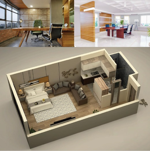 Studio Apartments and Offices