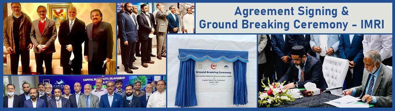 Agreement Signing & Ground Breaking Ceremony - IMRI