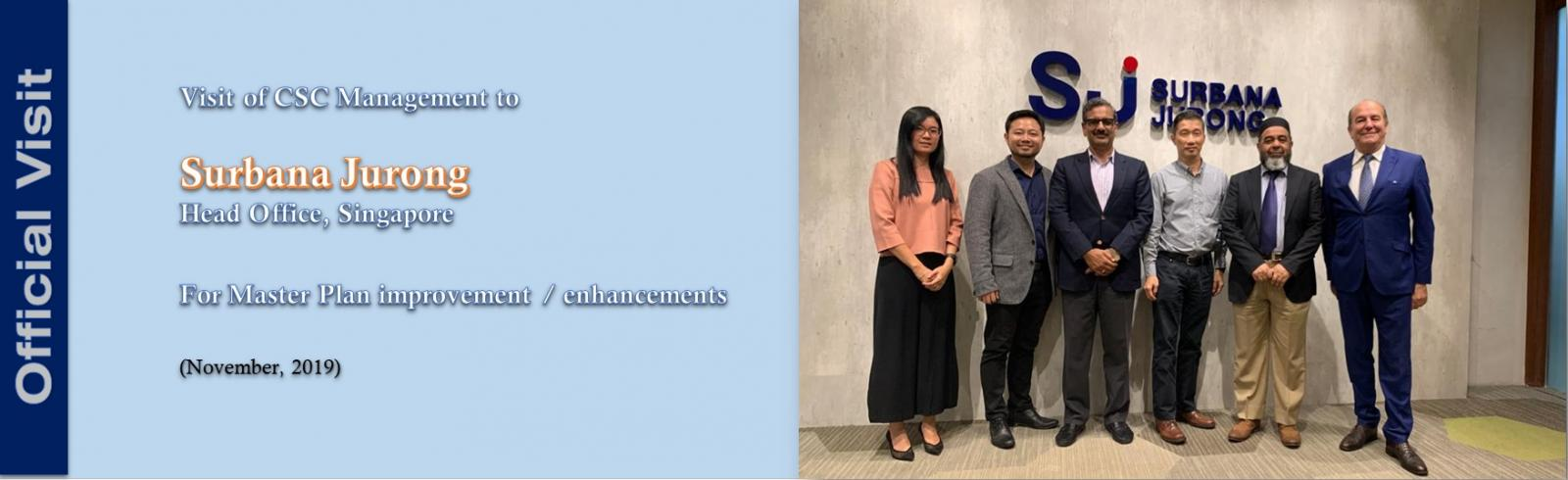 Successful visit of CSC Management to Surbana Jurong Head Office, Singapore