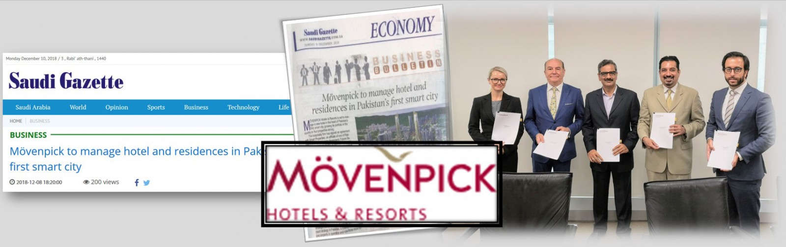Mövenpick to manage hotel and residences in Pakistan's first smart city