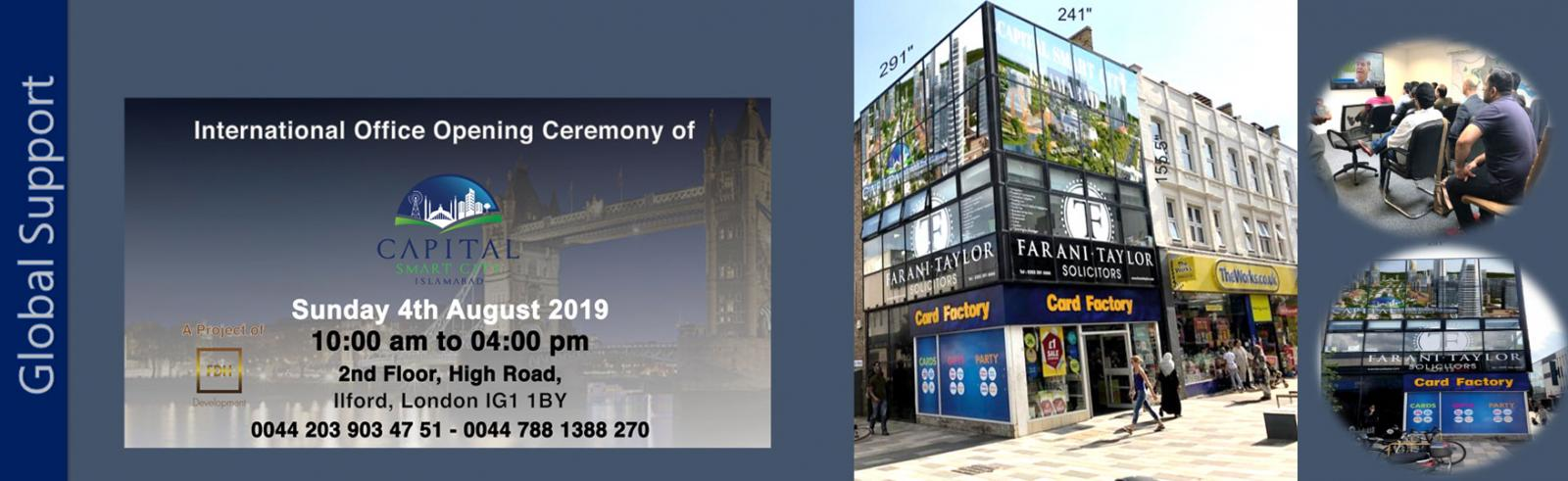 International Office Opening Ceremony (Ilford, London)
